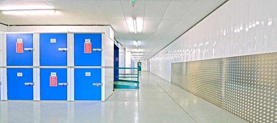 A self storage hallway