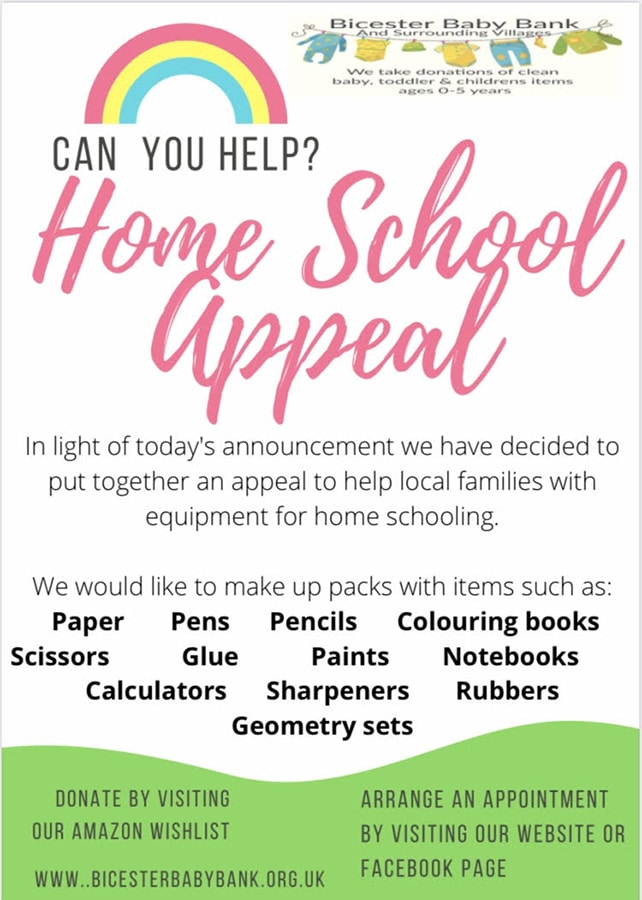 Bicester Baby Bank Home School Appeal