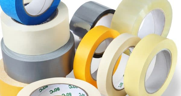 Several rolls of packing tapes