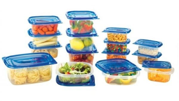 Pile of reusable containers