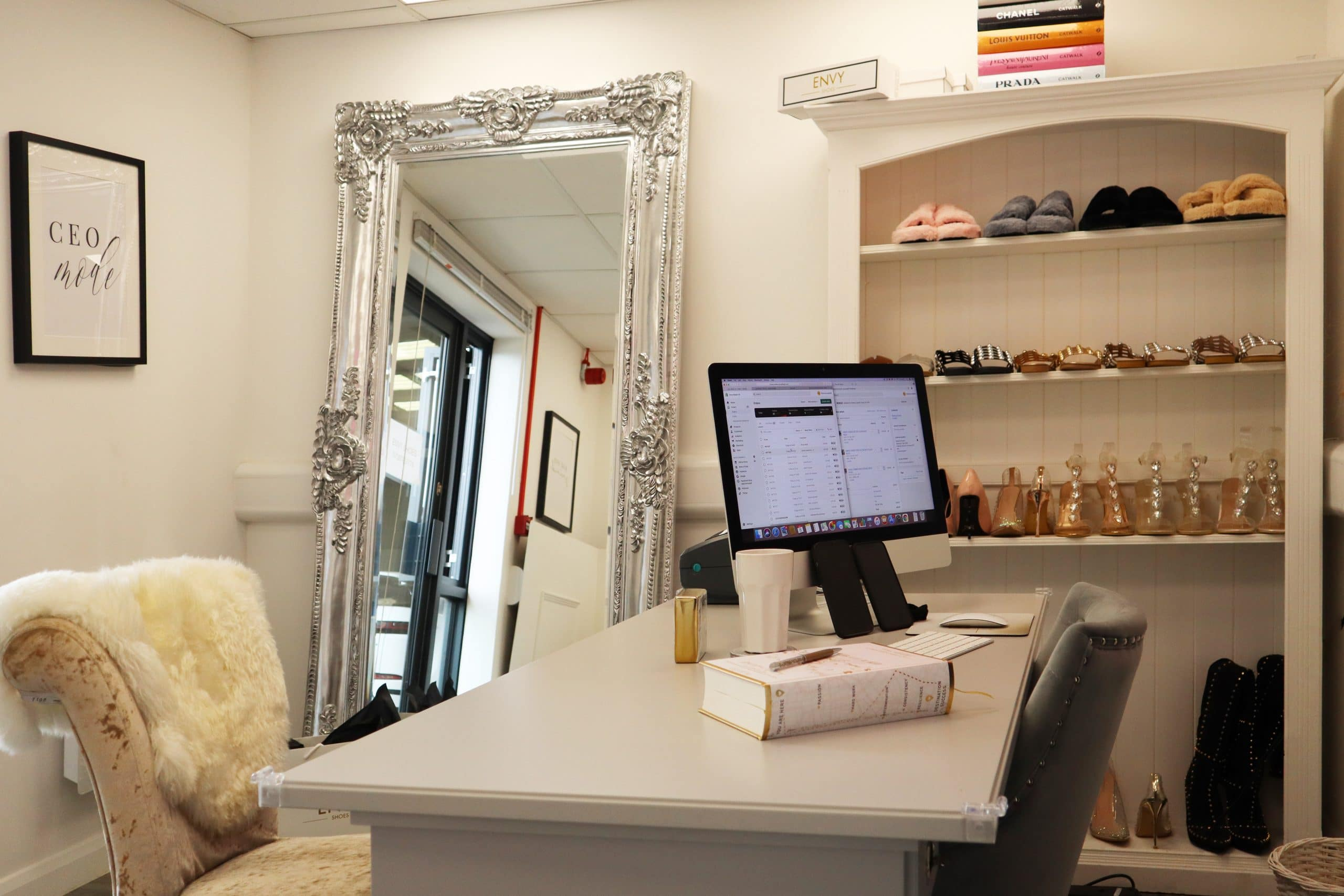 Envy Shoes office space at our Huntingdon store